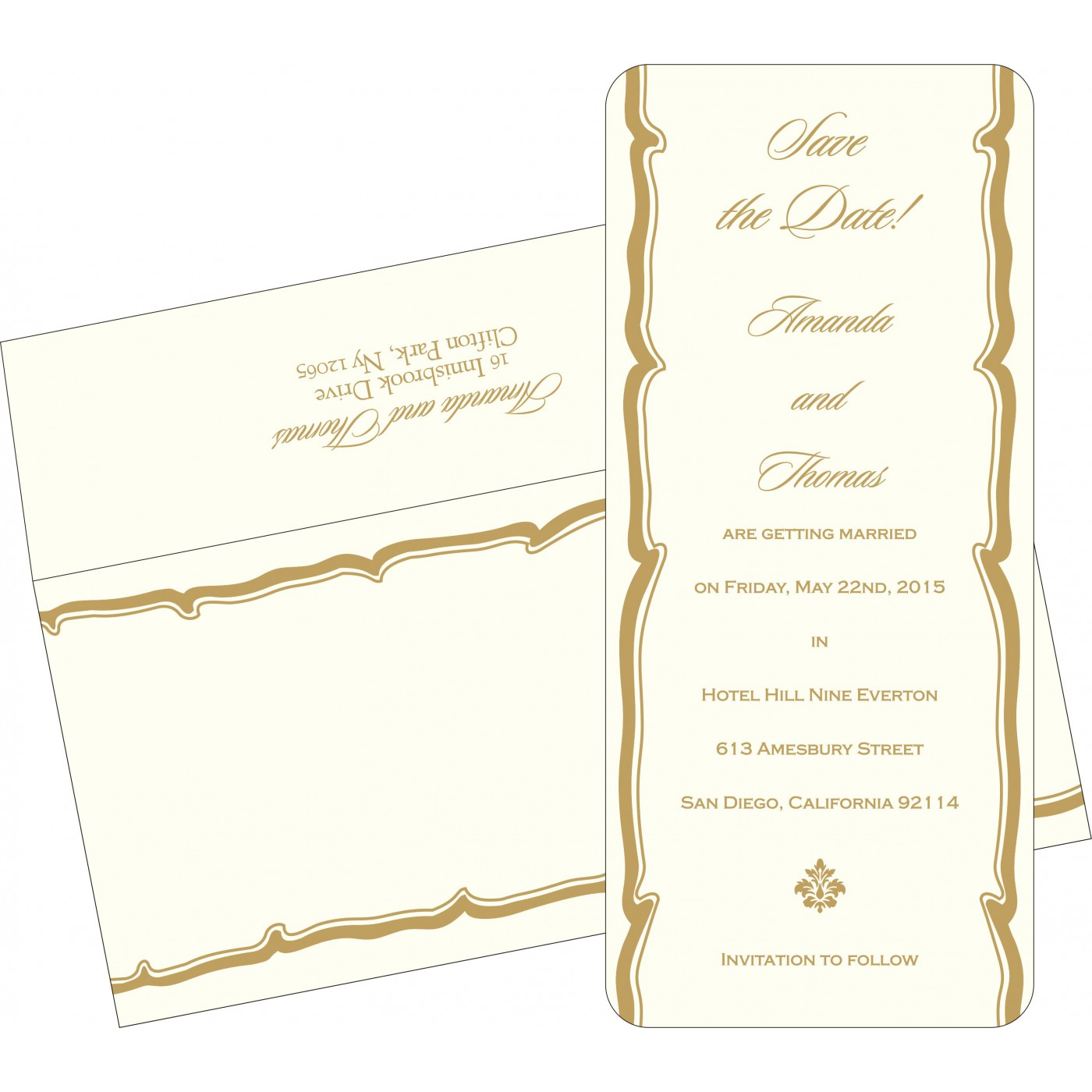 Save The Date Cards : STD-2219 - 123WeddingCards