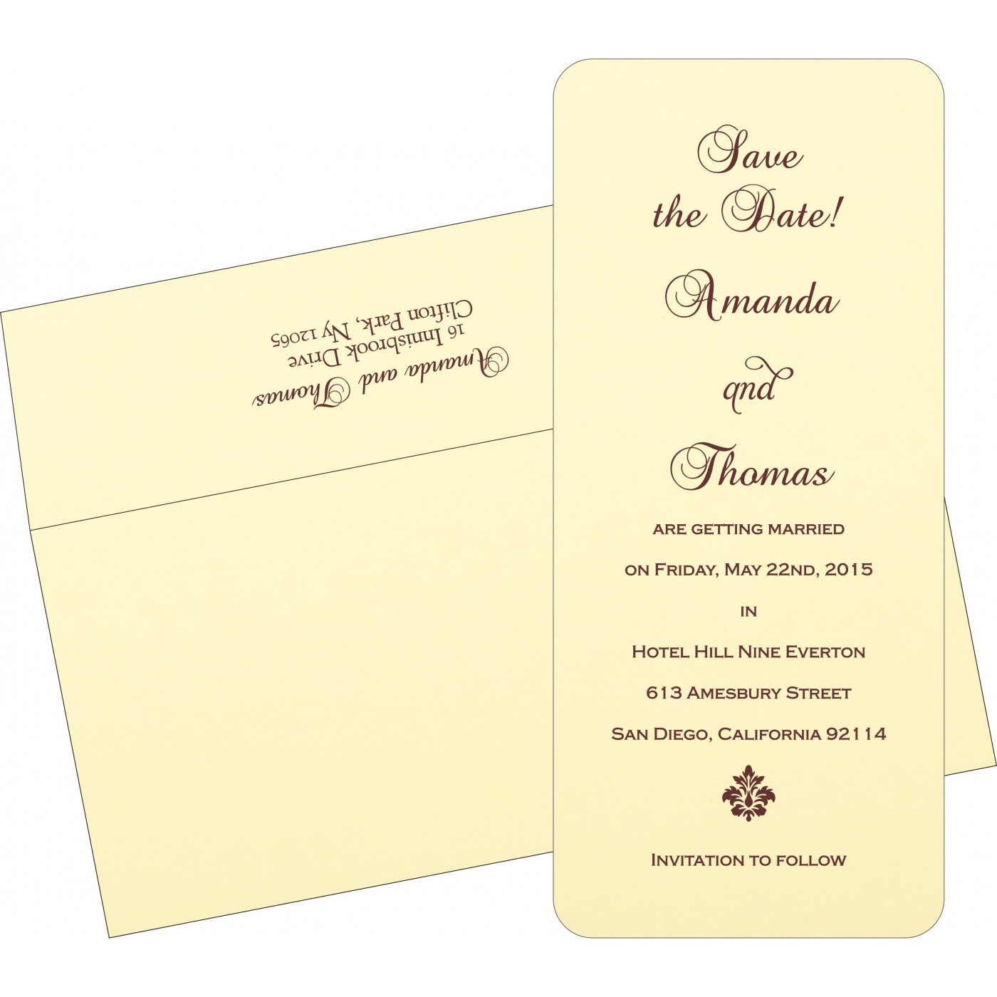 Save The Date Cards : STD-2275 - 123WeddingCards