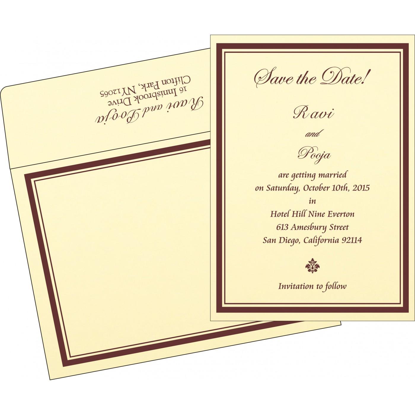 Save The Date Cards : STD-2276 - 123WeddingCards