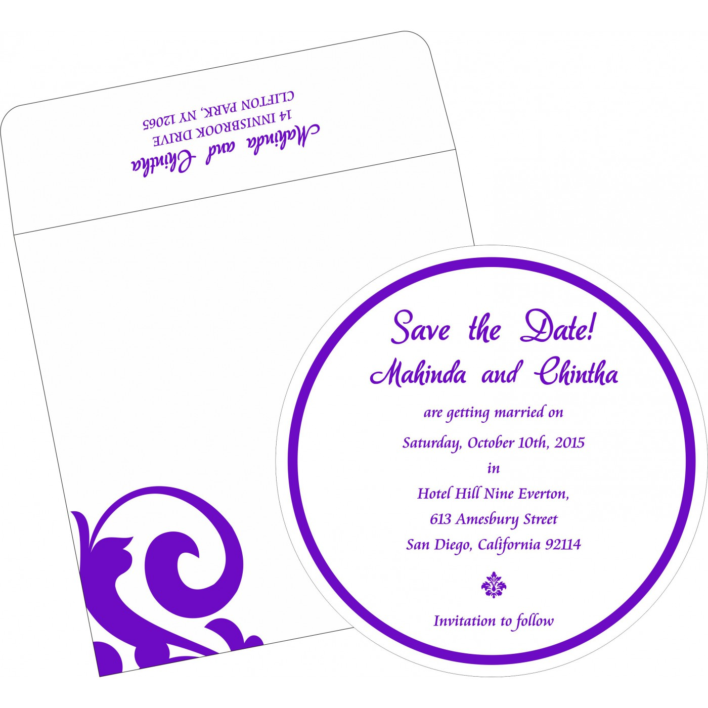 Save The Date Cards : STD-2278 - 123WeddingCards
