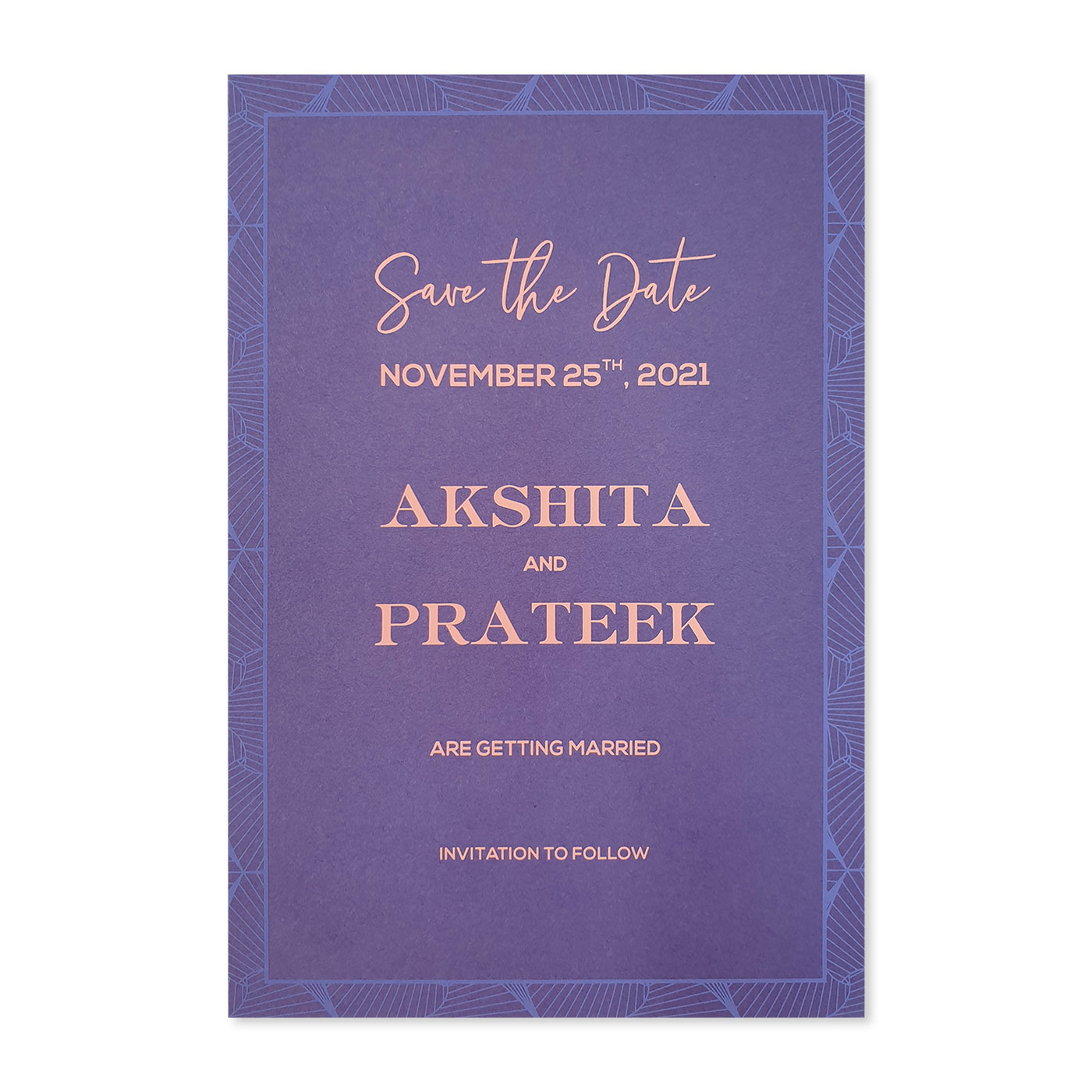Save The Date Cards : STD-3D_ABSTRACT - 123WeddingCards