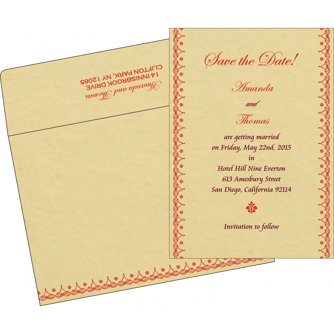 Save The Date Cards : STD-5004A - 123WeddingCards