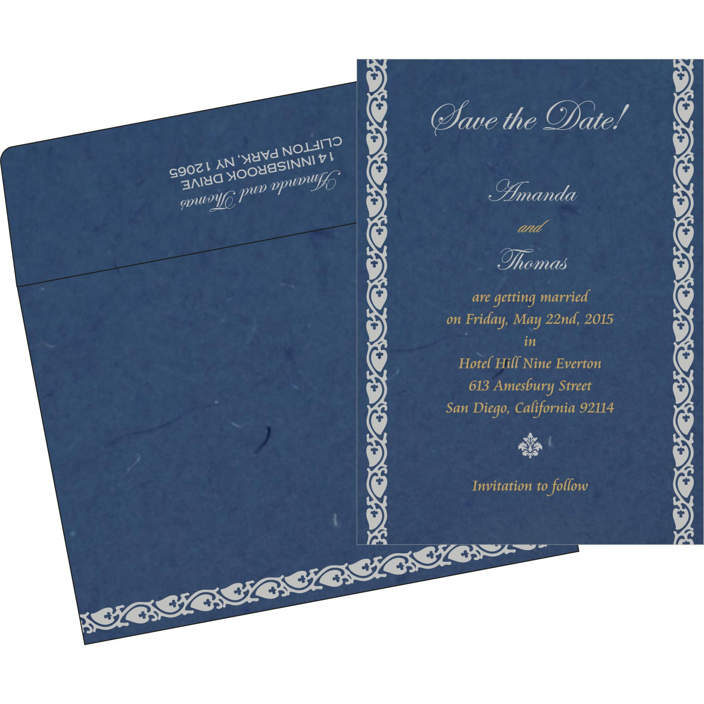 Save The Date Cards : STD-5005A - 123WeddingCards
