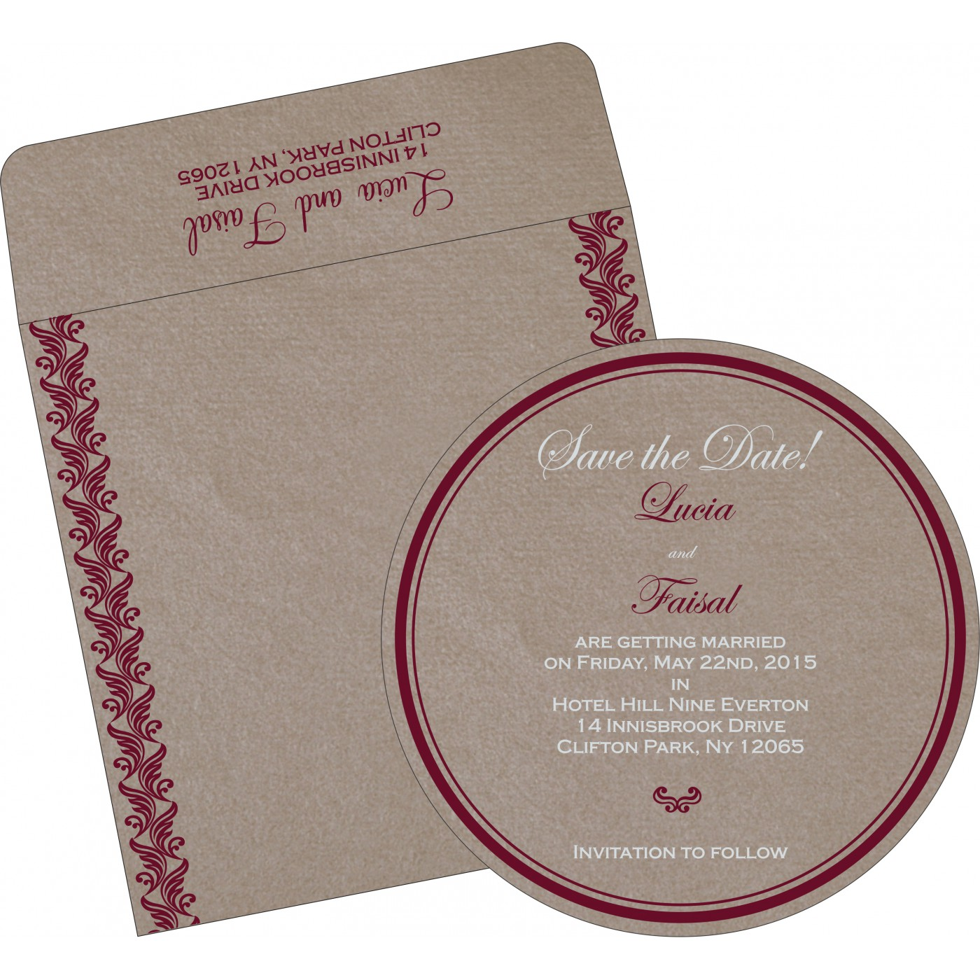 Save The Date Cards : STD-5007A - 123WeddingCards