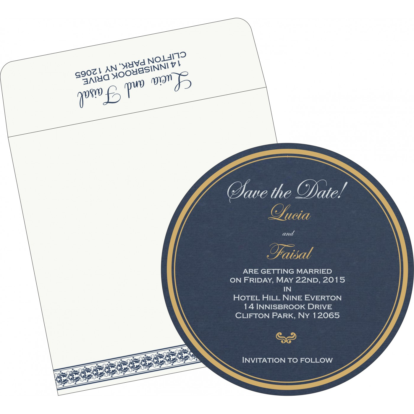 Save The Date Cards : STD-5010A - 123WeddingCards