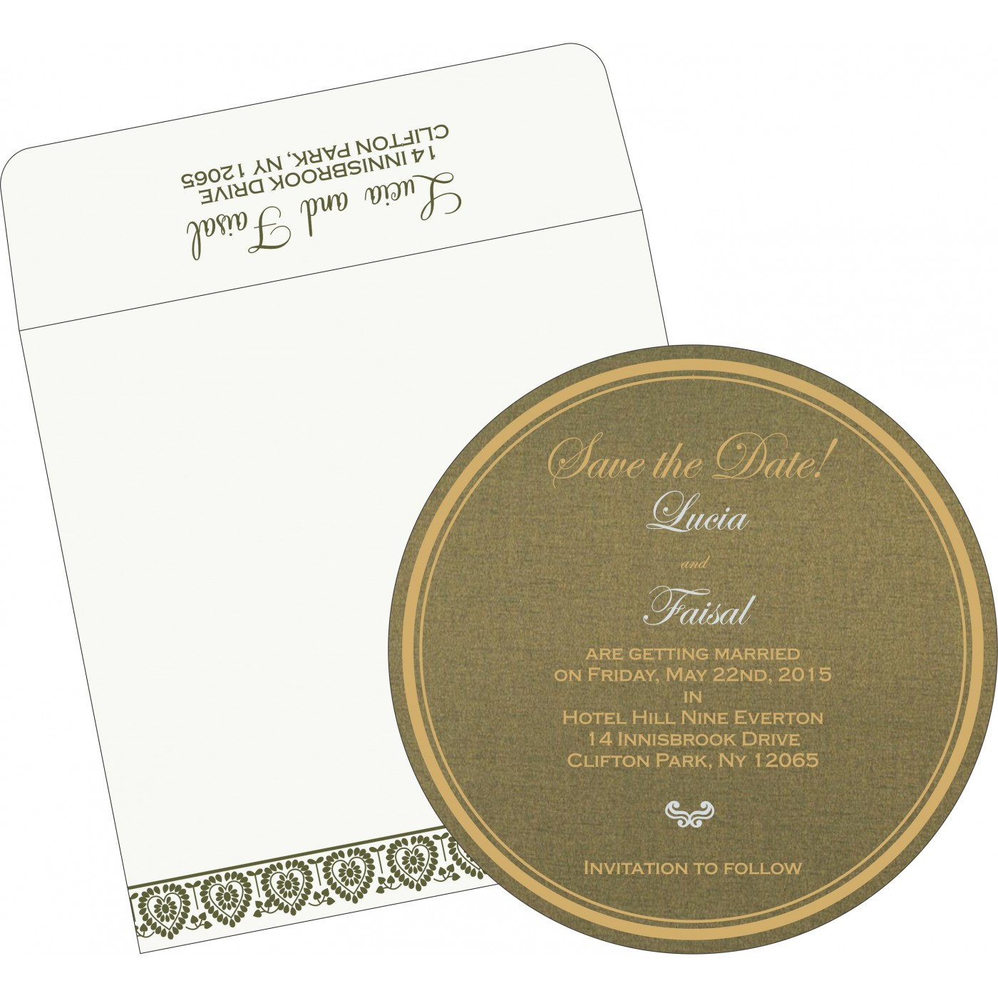 Save The Date Cards : STD-5012A - 123WeddingCards