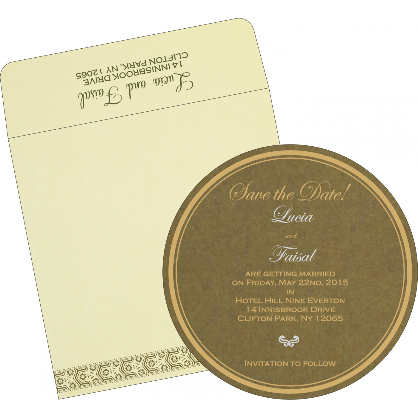 Save The Date Cards : STD-5014A - 123WeddingCards