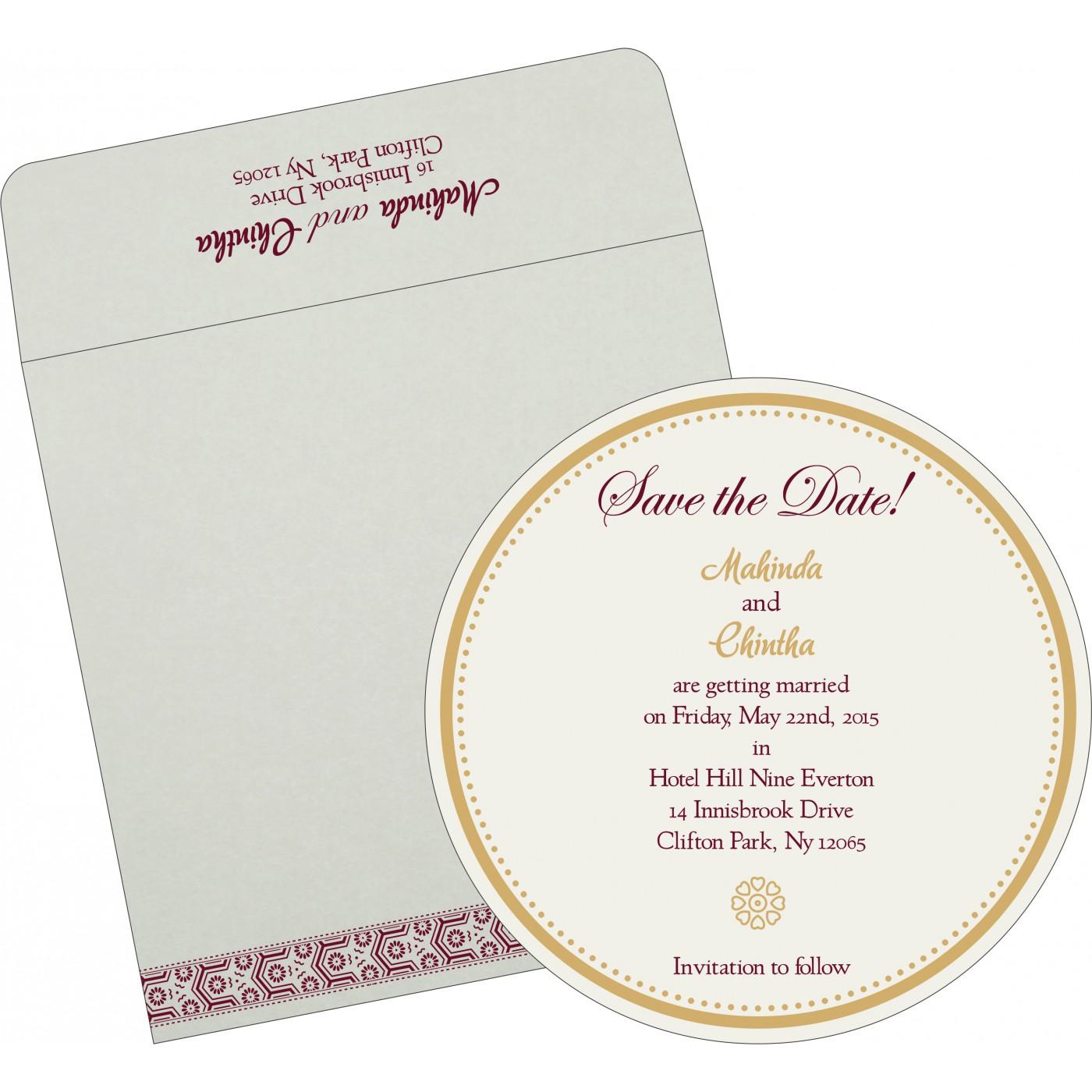 Save The Date Cards : STD-5014J - 123WeddingCards