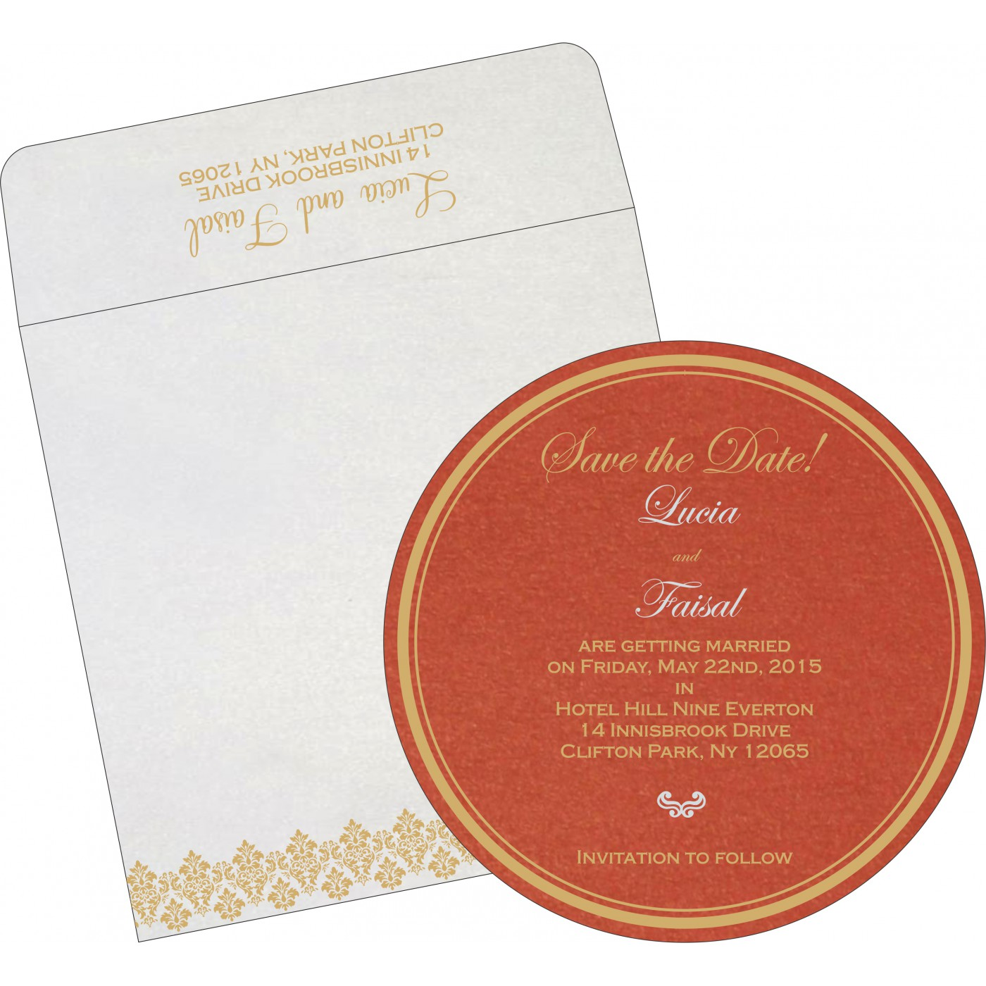 Save The Date Cards : STD-5016A - 123WeddingCards