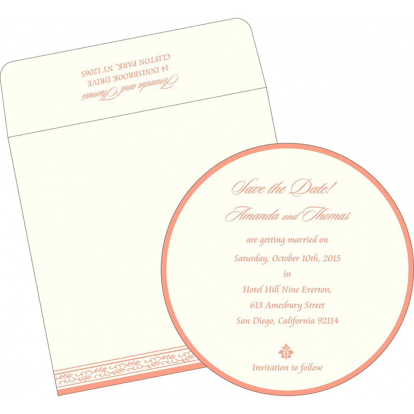 Save The Date Cards : STD-8202Q - 123WeddingCards