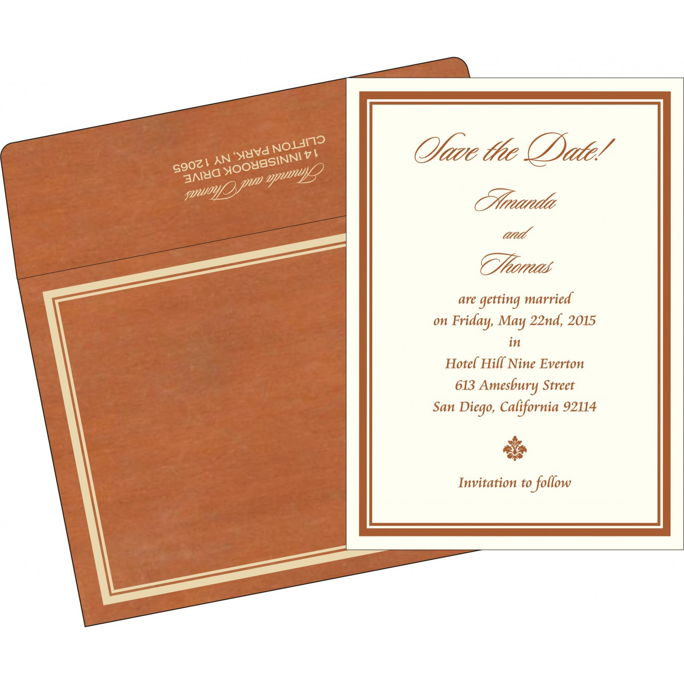 Save The Date Cards : STD-8204A - 123WeddingCards