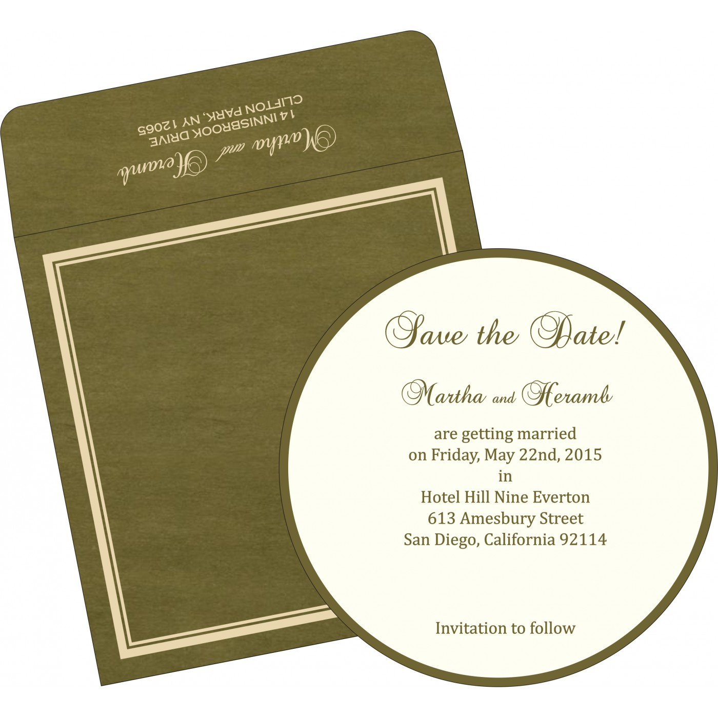 Save The Date Cards : STD-8204C - 123WeddingCards