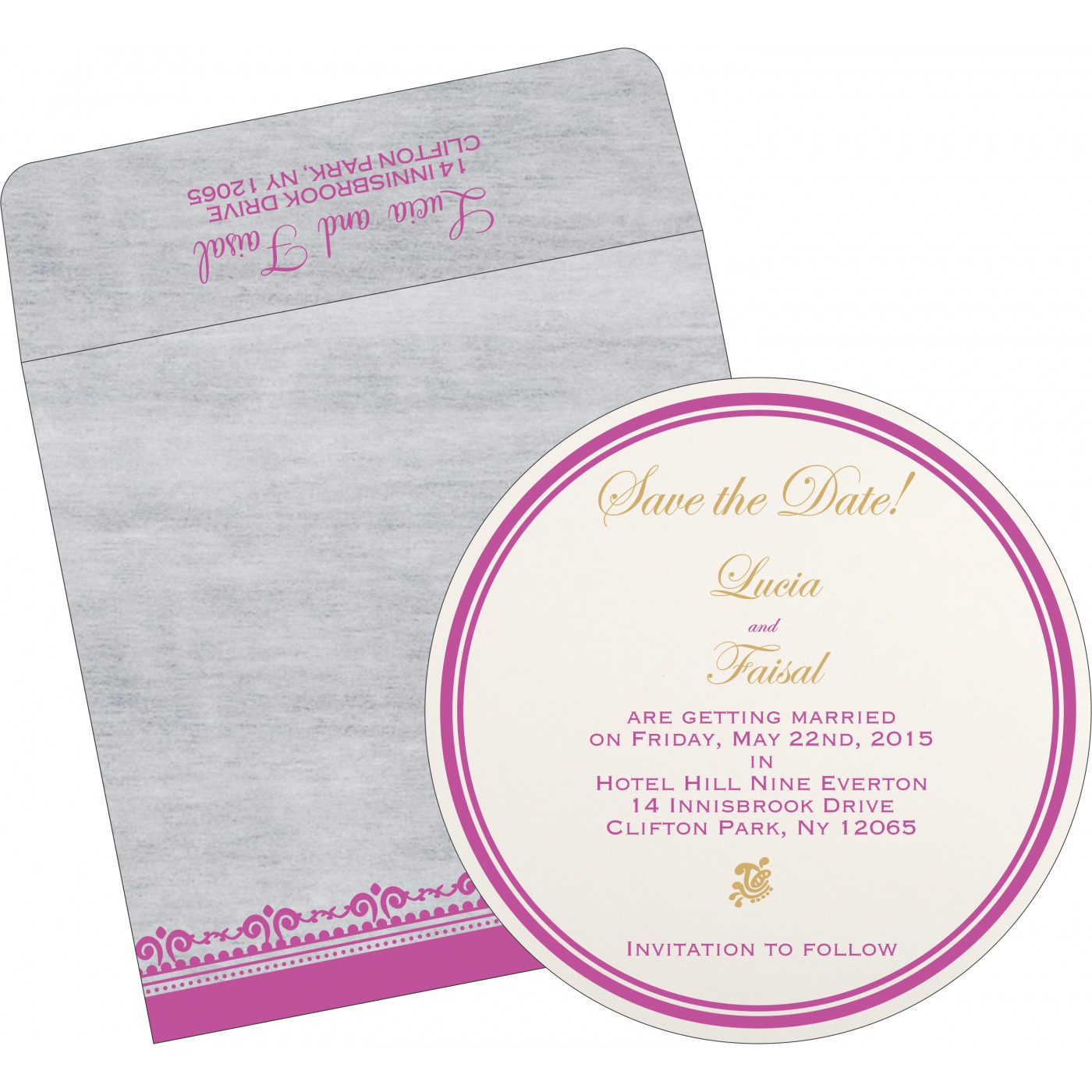 Save The Date Cards : STD-8205A - 123WeddingCards