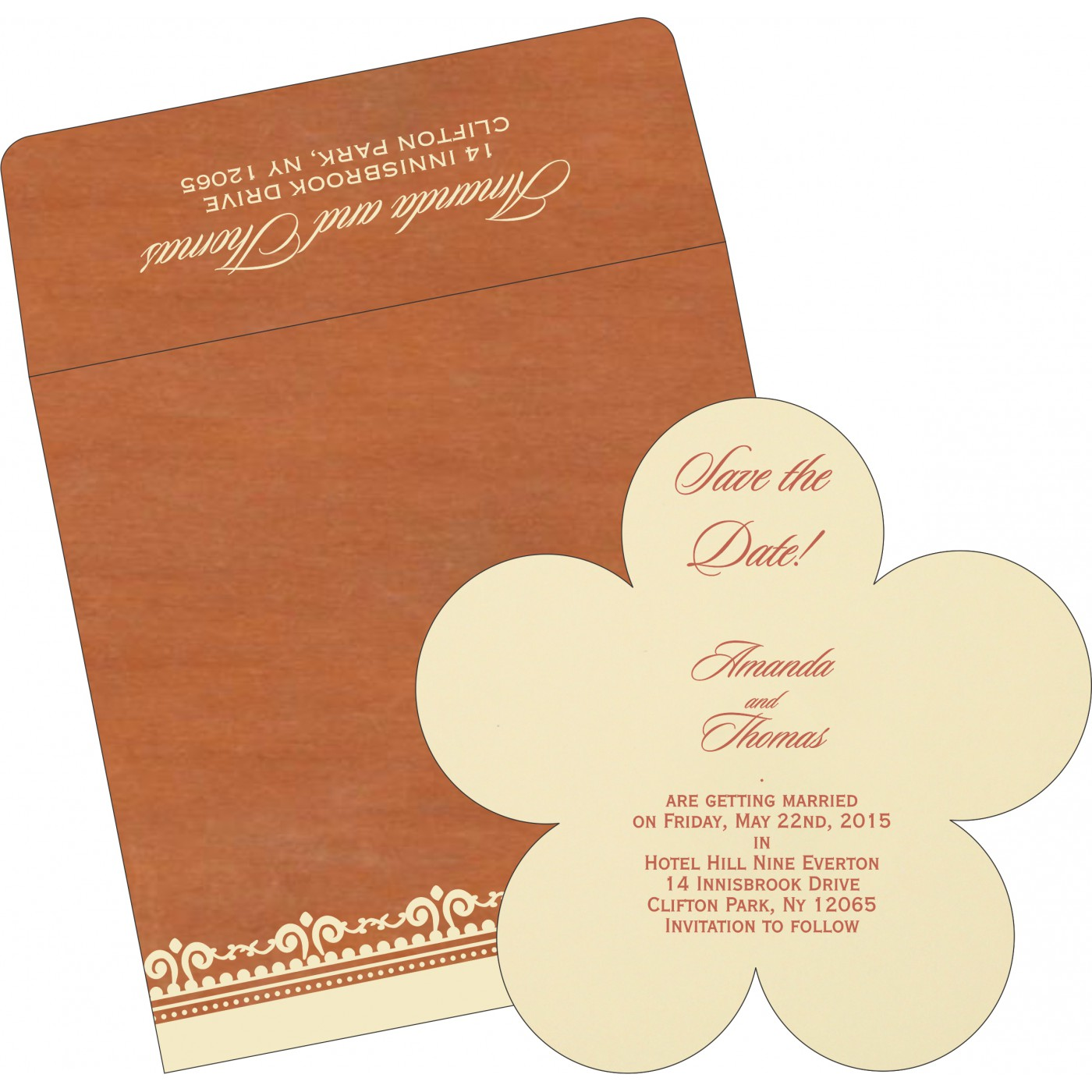 Save The Date Cards : STD-8205C - 123WeddingCards