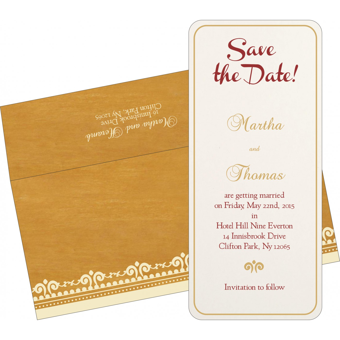 Save The Date Cards : STD-8205D - 123WeddingCards