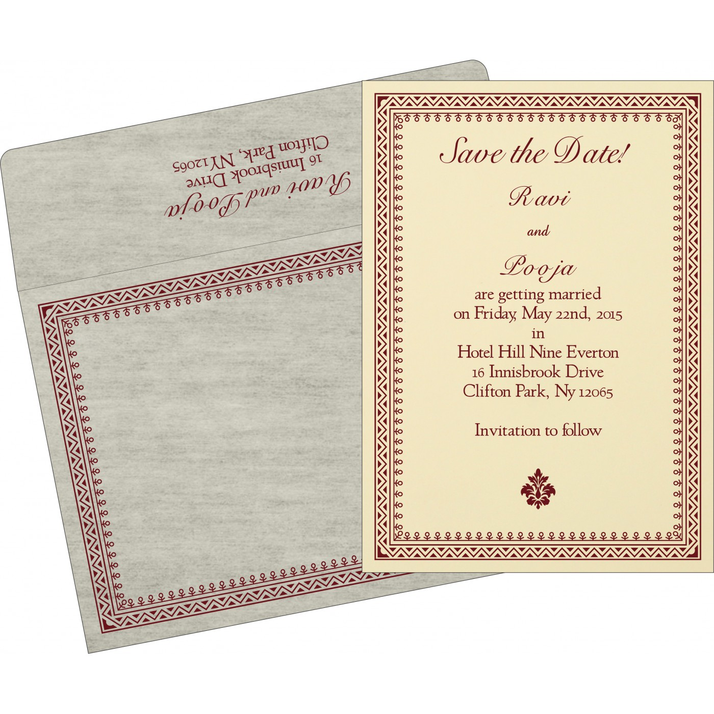 Save The Date Cards : STD-8205E - 123WeddingCards
