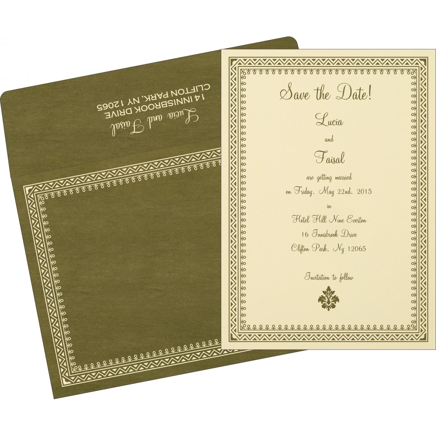 Save The Date Cards : STD-8205G - 123WeddingCards