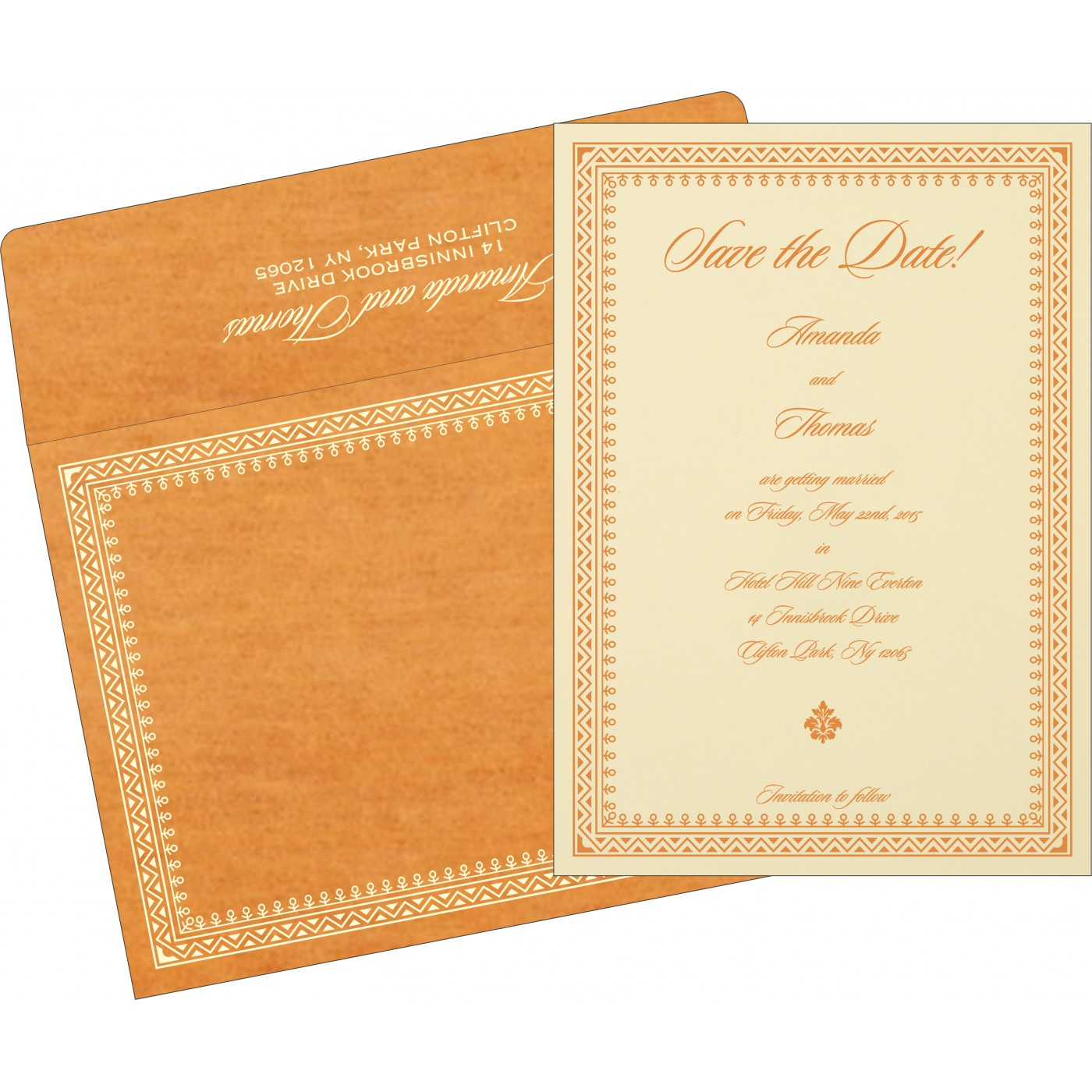 Save The Date Cards : STD-8205H - 123WeddingCards
