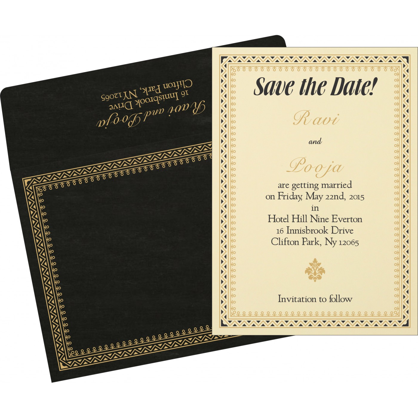 Save The Date Cards : STD-8205K - 123WeddingCards