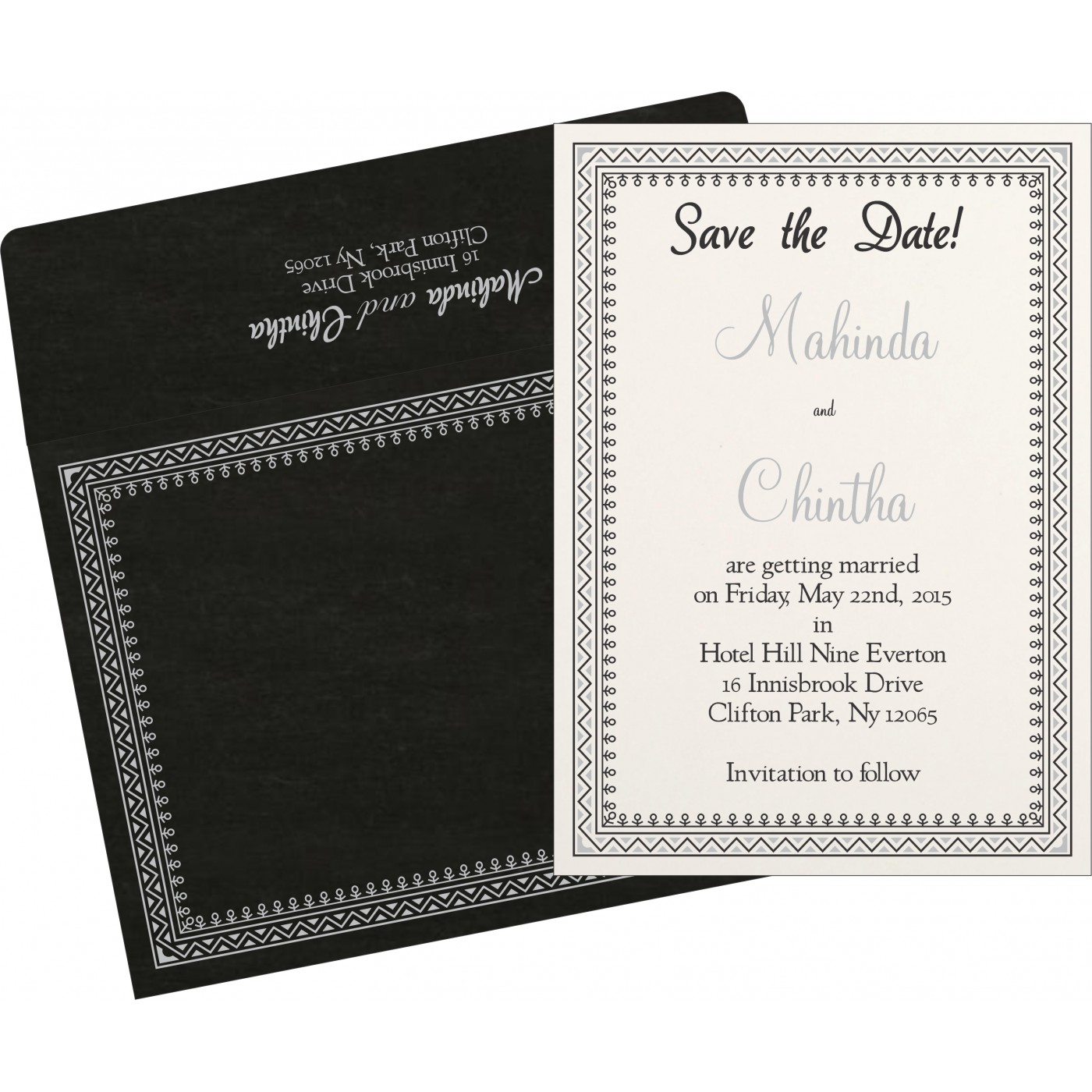 Save The Date Cards : STD-8205L - 123WeddingCards