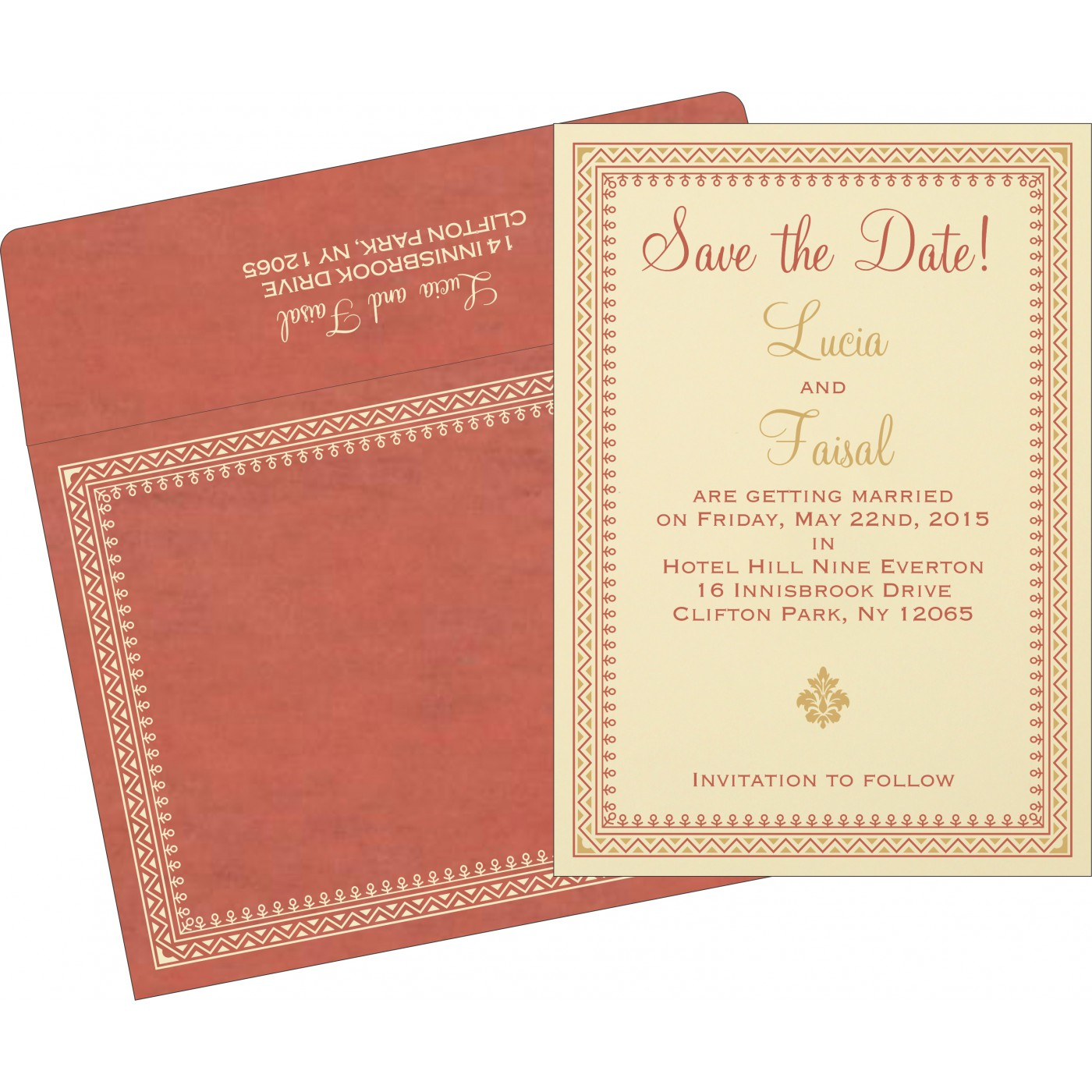 Save The Date Cards : STD-8205M - 123WeddingCards
