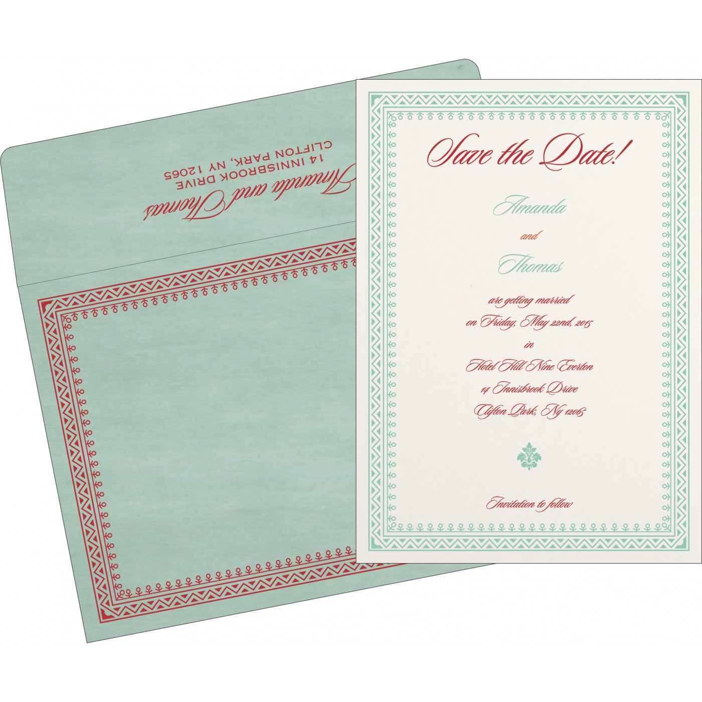 Save The Date Cards : STD-8205N - 123WeddingCards