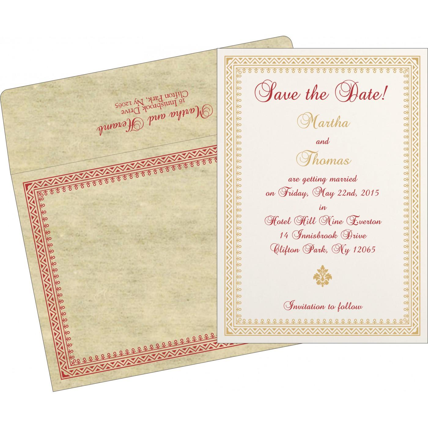 Save The Date Cards : STD-8205O - 123WeddingCards