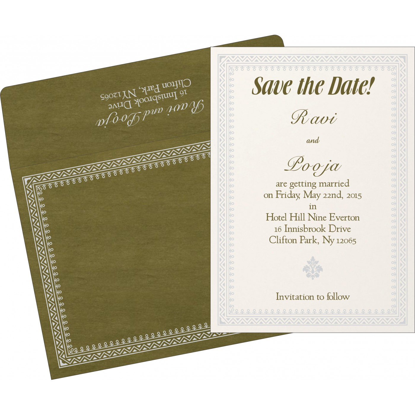 Save The Date Cards : STD-8205Q - 123WeddingCards