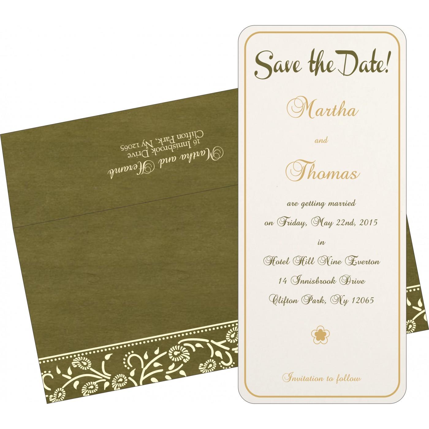 Save The Date Cards : STD-8206D - 123WeddingCards
