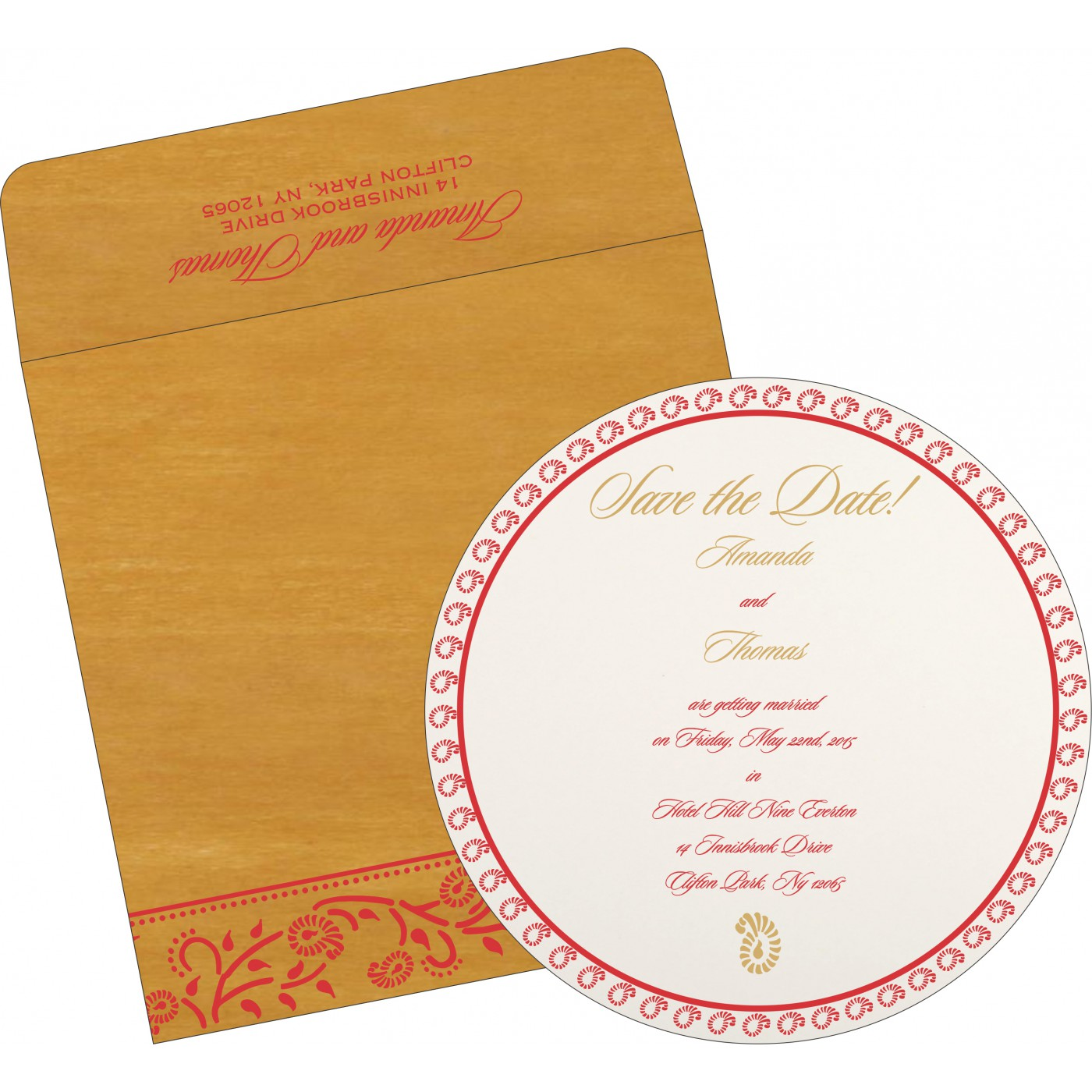 Save The Date Cards : STD-8206H - 123WeddingCards