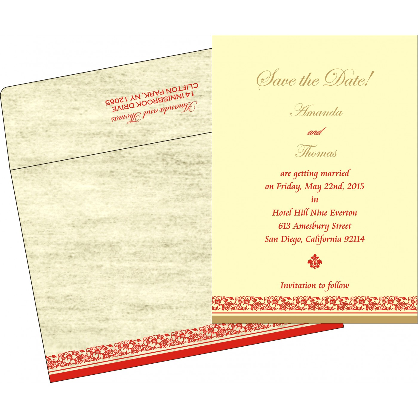 Save The Date Cards : STD-8207A - 123WeddingCards