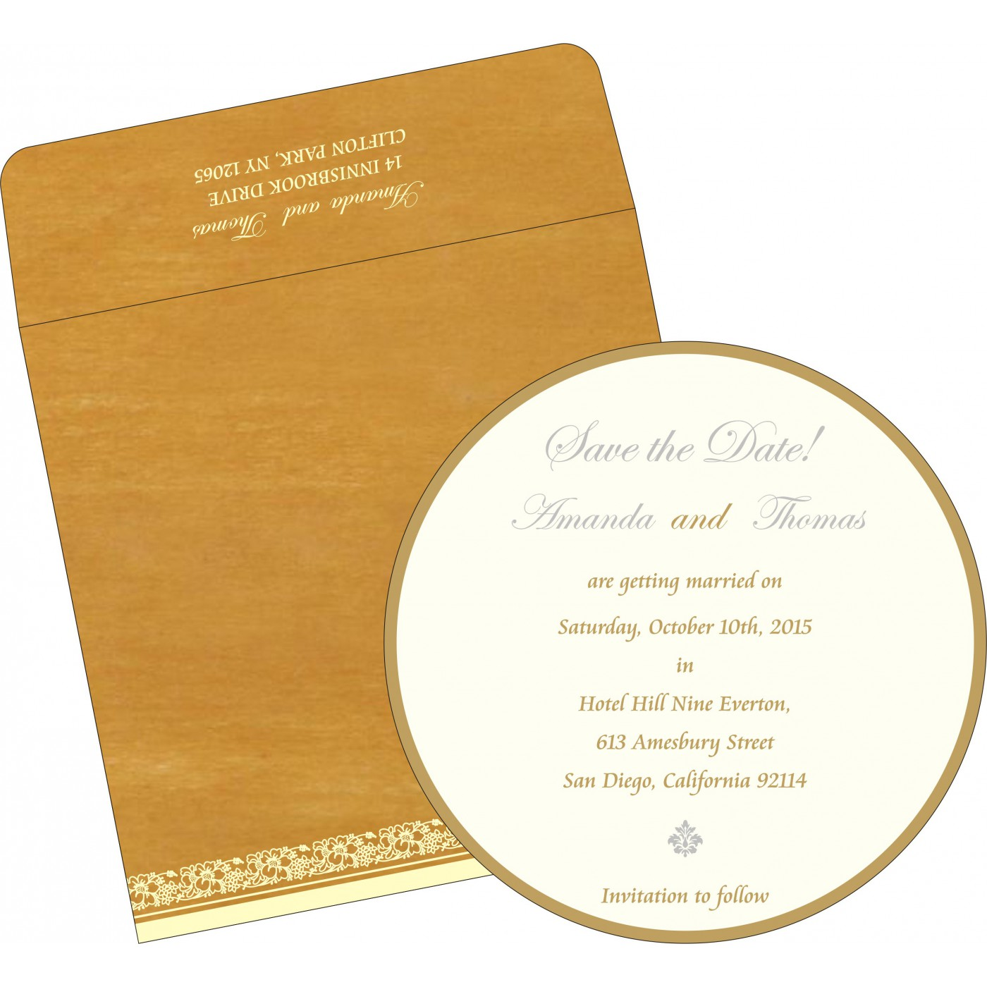 Save The Date Cards : STD-8207F - 123WeddingCards