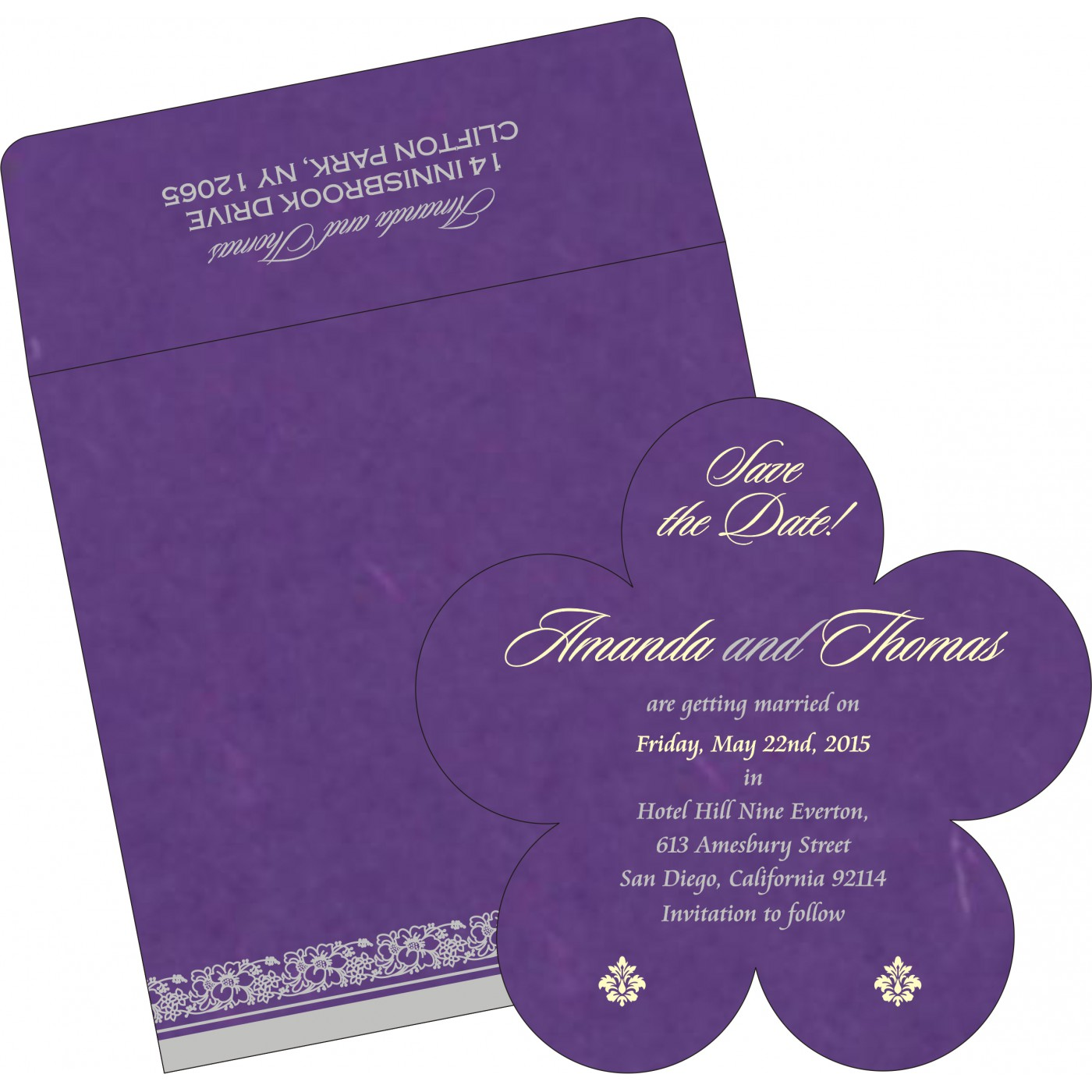 Save The Date Cards : STD-8207G - 123WeddingCards