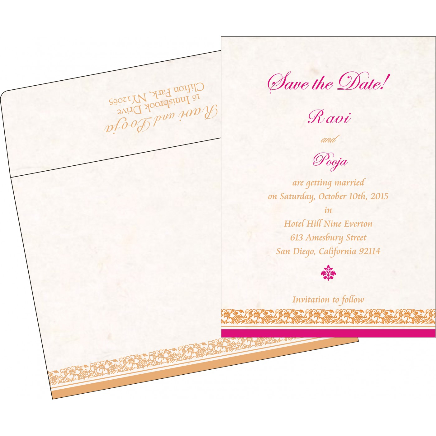 Save The Date Cards : STD-8207I - 123WeddingCards