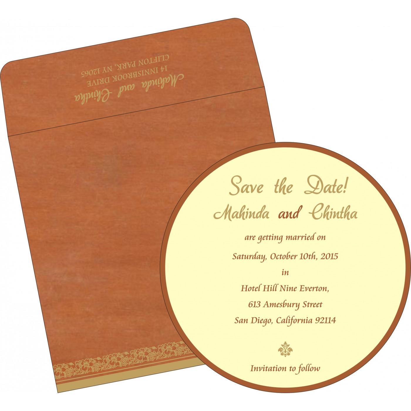 Save The Date Cards : STD-8207N - 123WeddingCards