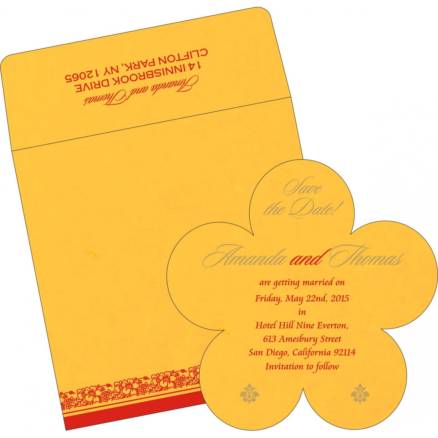 Save The Date Cards : STD-8207O - 123WeddingCards