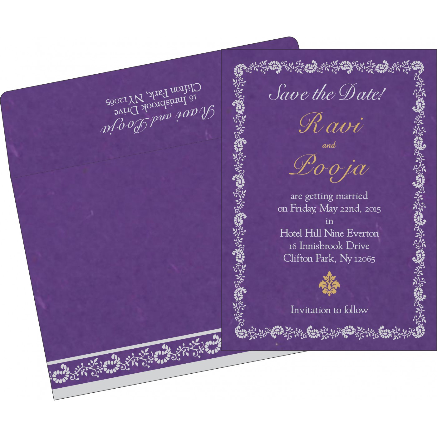 Save The Date Cards : STD-8208D - 123WeddingCards