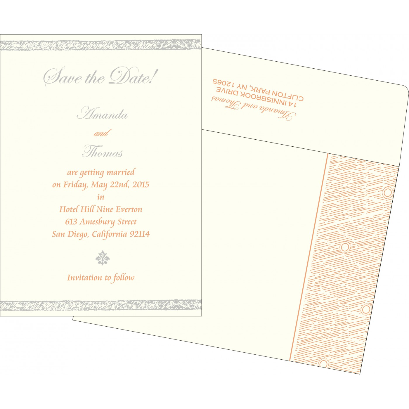 Save The Date Cards : STD-8209A - 123WeddingCards