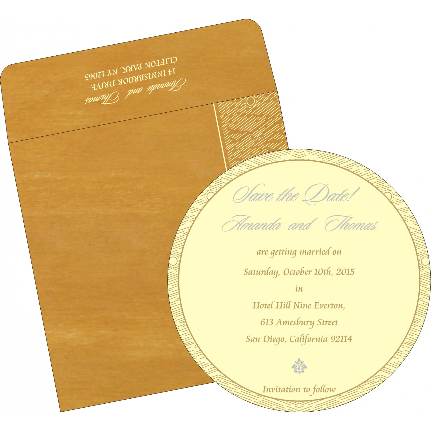 Save The Date Cards : STD-8209B - 123WeddingCards