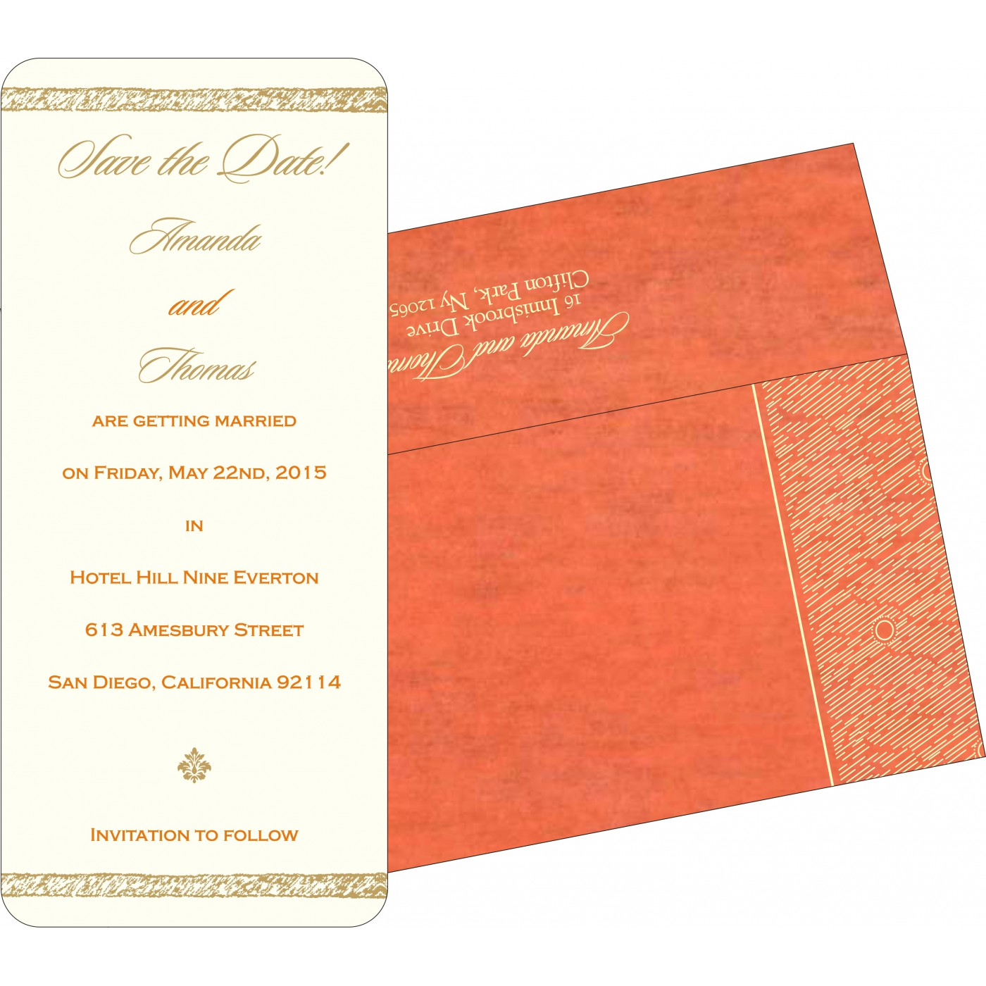 Save The Date Cards : STD-8209M - 123WeddingCards