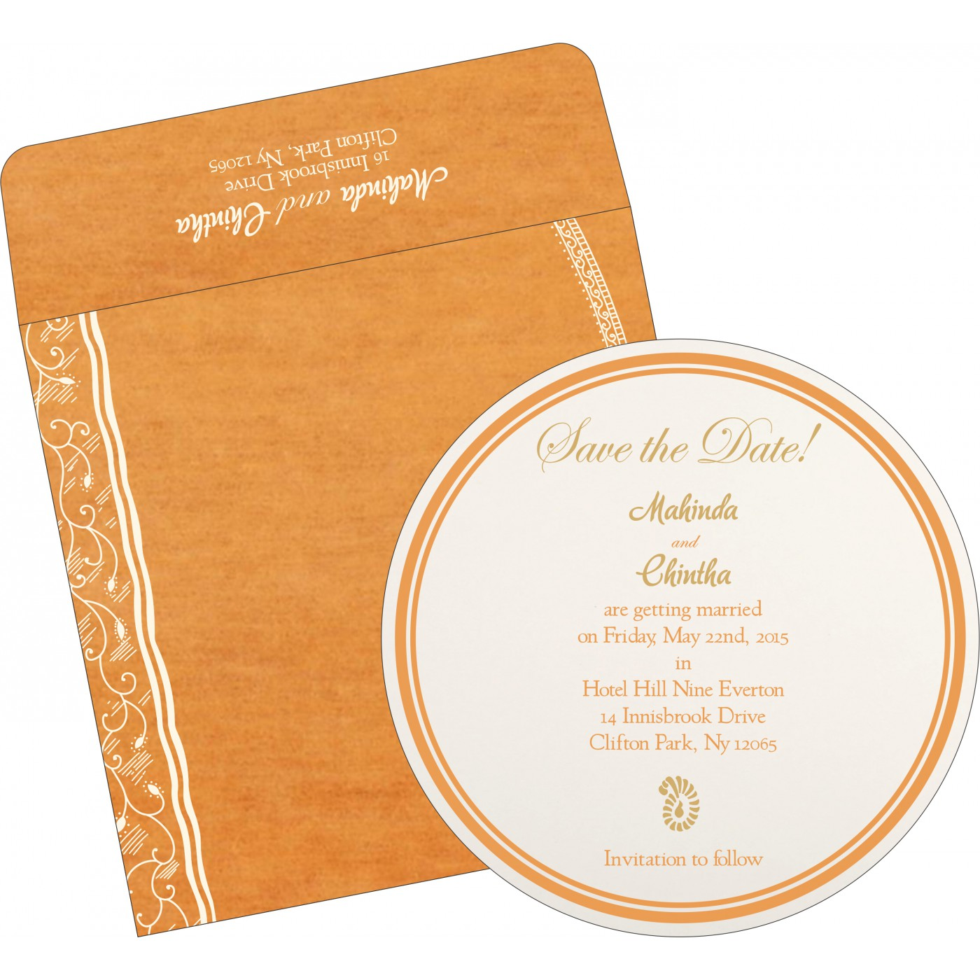 Save The Date Cards : STD-8210L - 123WeddingCards