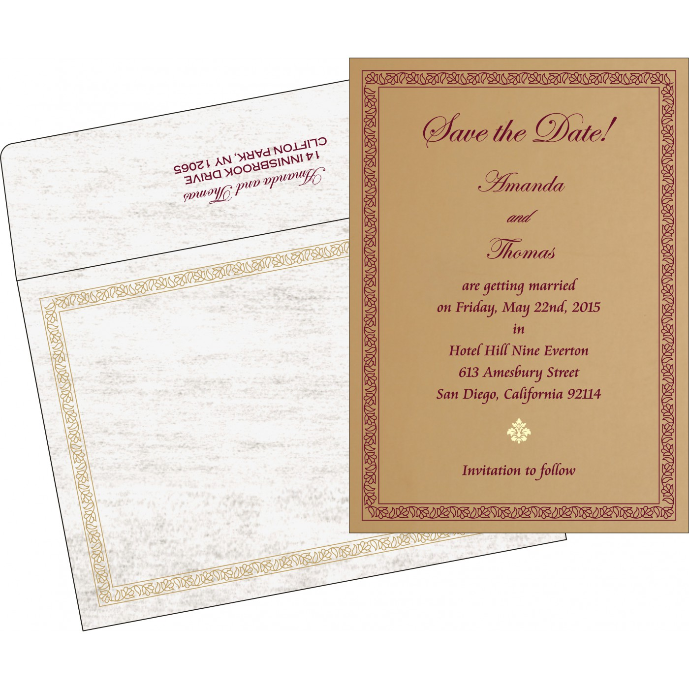 Save The Date Cards : STD-8211A - 123WeddingCards