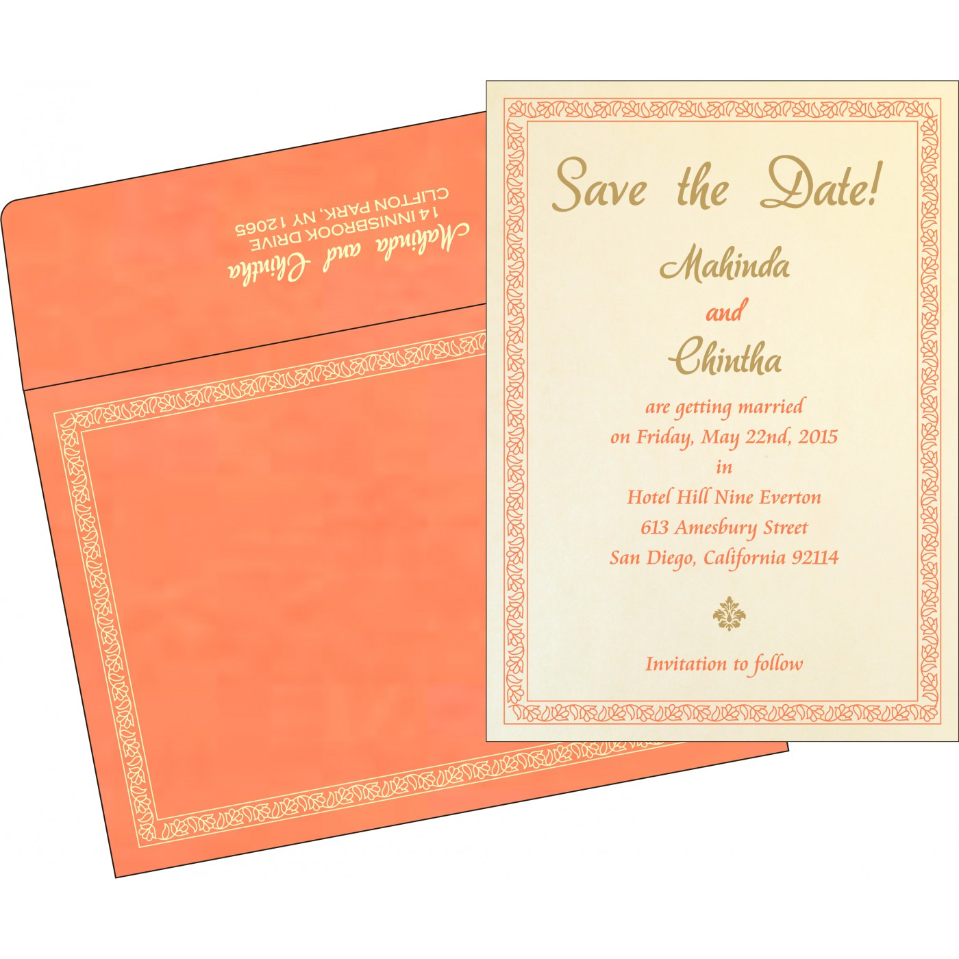 Save The Date Cards : STD-8211F - 123WeddingCards
