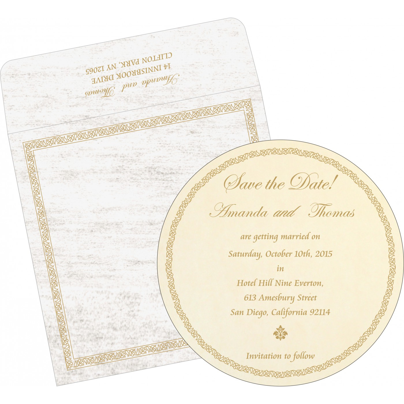 Save The Date Cards : STD-8211G - 123WeddingCards