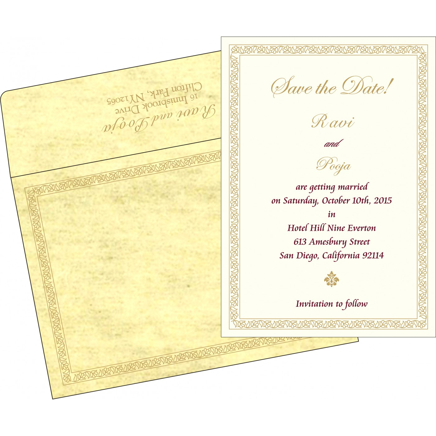Save The Date Cards : STD-8211K - 123WeddingCards