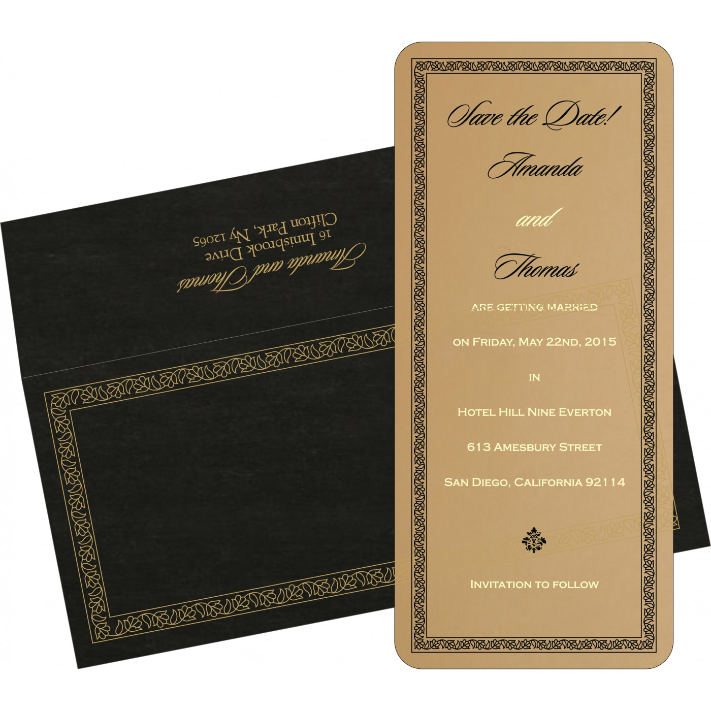 Save The Date Cards : STD-8211N - 123WeddingCards