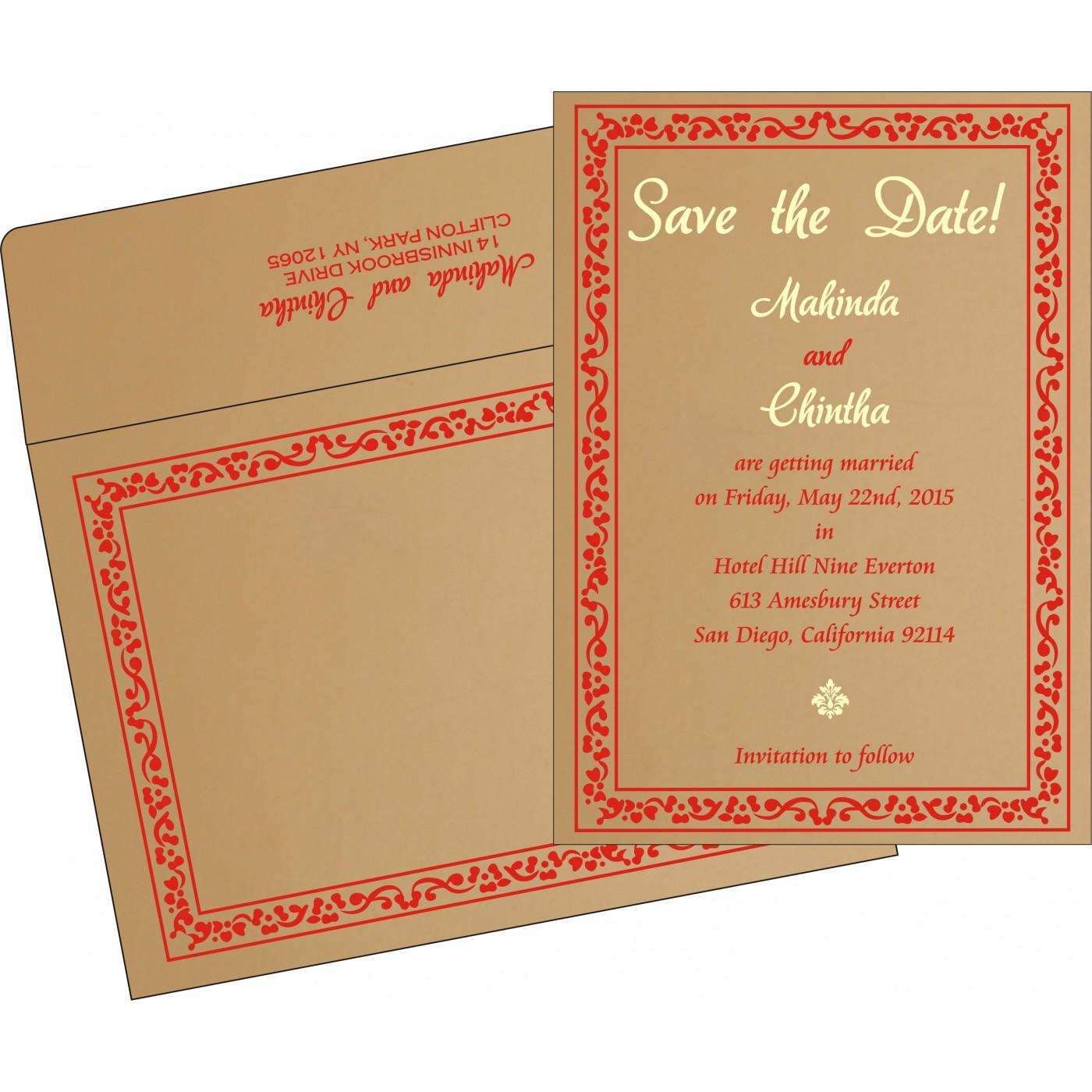 Save The Date Cards : STD-8214F - 123WeddingCards