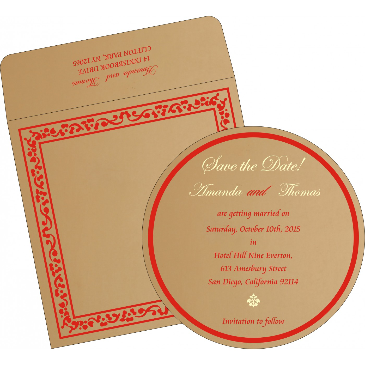 Save The Date Cards : STD-8214G - 123WeddingCards