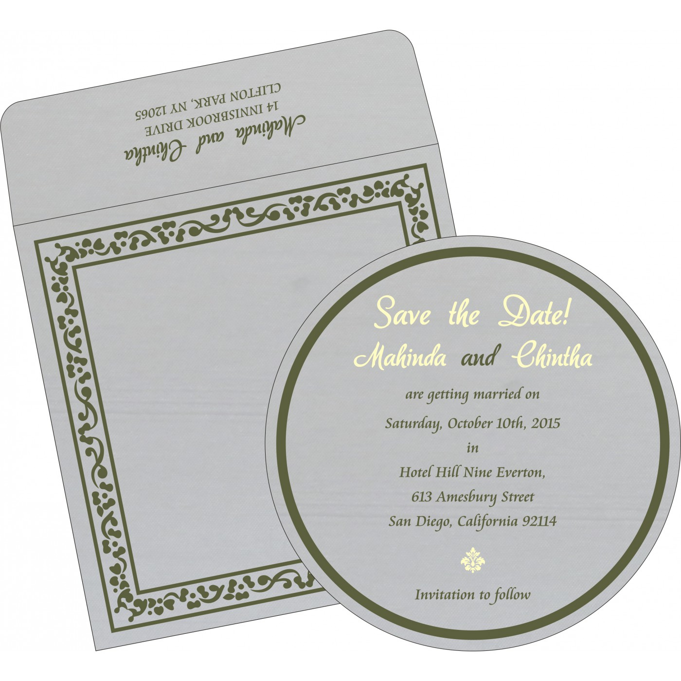Save The Date Cards : STD-8214L - 123WeddingCards