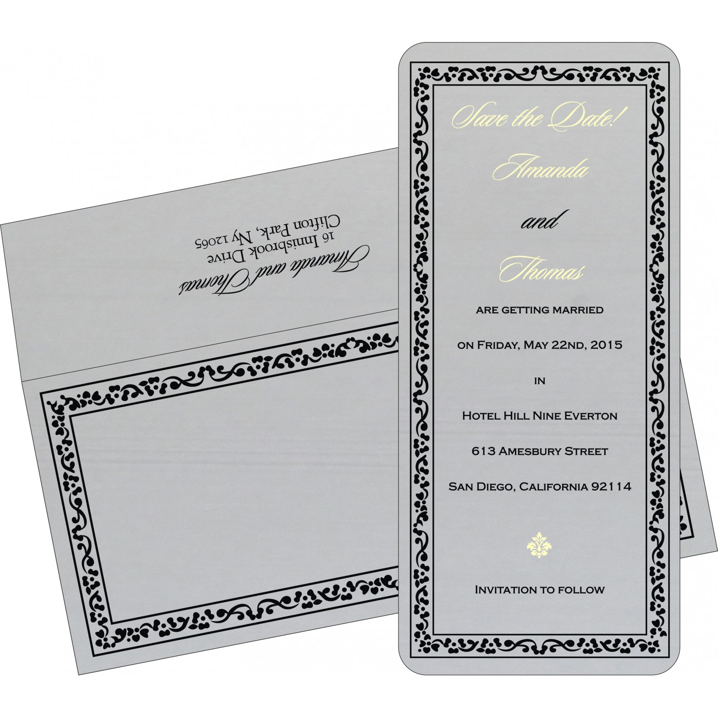 Save The Date Cards : STD-8214N - 123WeddingCards